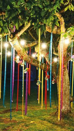 Decor strings for tree.