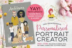 Personalised Portrait Creator by Lisa Glanz on @creativemarket