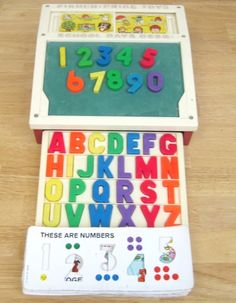This was my laptop as a wee lad, the Fisher Price School Desk :D