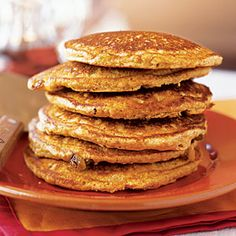 Healthy Breakfast and Brunch Recipes - Hearty Pancakes - Cooking Light Breakfast And Brunch, How To Make Breakfast, Paleo Breakfast, Breakfast Recipes, Brunch Recipes, Sunday Brunch, Recipes Dinner, Dessert Recipes, Paleo Pancakes Almond Flour