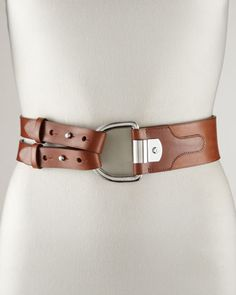 A wardrobe staple... Classic... Always wearable and in style! Tri-Strap Leather Belt, Tan by Ralph Lauren at Bergdorf Goodman.