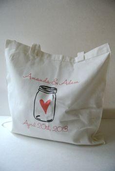 Items similar to Custom Mason Jar Wedding Tote Bag - Quantity 1 on Etsy Custom Mason Jars, Wedding Gifts, Wedding Ideas, Face Care, Woman Face, Weed, Creativity, Reusable Tote Bags, Etsy