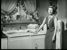 Harriet Nelson in 1950s Commercial for Hotpoint Laundry