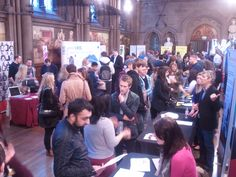Keen students from around Manchester, the North West, and West Yorkshire getting great advice and discussing potential job opportunities at #ManchesterDigital's Talent Day 2013 #MDTalentDay