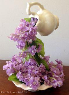 Purple Hues and Me: April Showers, Flowing Flowers DIY