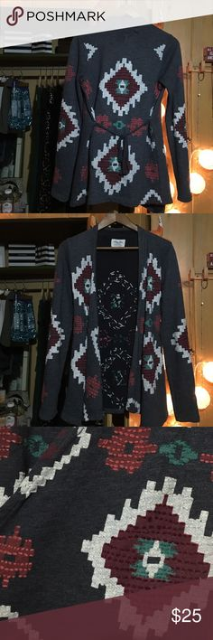 Lucky Brand cute knitwear sweater Such a cute pattern! Perfect for the beach or casual wear! Lucky Brand Jackets & Coats