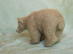 Felted bear.  Look at his bum! lol.