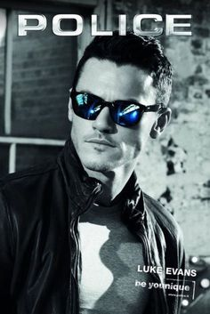 My favorite Police Sunglasses on my favorite actor Luke Evans