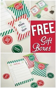 FREE Christmas gift boxes and wish list!