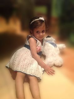 Handmade+Crochet+baby+girl+dress+with+a+Free+Headband+by+SueStitch,+$34.99