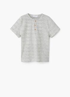 Camiseta algodón cuello panadero | MANGO KIDS
