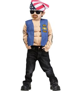 Fun World Little Boys' Mini Biker Costume - Biker Halloween Costume Best Halloween Costumes & Dresses USA