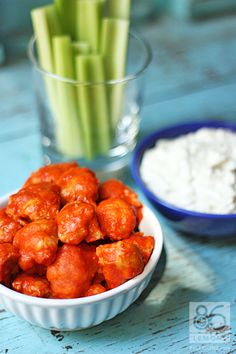 Ever made your own Vegan Blue Cheese Dressing? Now's the time! Accompanied with Vegan Buffalo Bites.