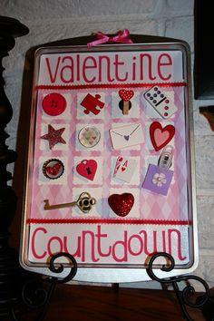 Valentine Cookie Sheet Countdown