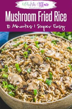 Use that leftover rice to make this easy Mushroom Fried Rice and see it disappear in minutes. Here is how to cook Mushroom Fried Rice in Chinese Style. Easy Mushroom Fried Rice Recipe Neha at WhiskAffair whiskaffa Leftover Rice Recipes, Easy Rice Recipes, Healthy Diet Recipes, Healthy Meal Prep, Cooking Recipes, Healthy Protein, Vegetarian Chinese Recipes, Easy Chinese Recipes, Indian Food Recipes