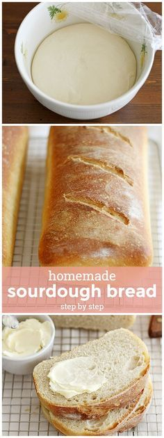 Homemade Sourdough Bread, Step by Step -- you'll never know how easy sourdough is to make at home until you try it! Sourdough Bread, Step by Step -- you'll never know how easy sourdough is to make at home until you try it! Bread Machine Recipes, Easy Bread Recipes, Baking Recipes, Sourdough Bread Machine, Quick Bread, Lunch Recipes, Yummy Recipes, Healthy Recipes, Pain Au Levain