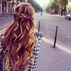 Curls, extensions and another crown braid.