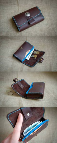 Кошелек холдер. Case wallet leather