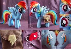Rainbow Dash with saddle bags and whistle details by Zorza-6 on DeviantArt