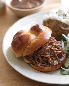 southern pulled-pork sandwiches  boneless pork shoulder / boston butt  (martha stewart everyday food may 2008)