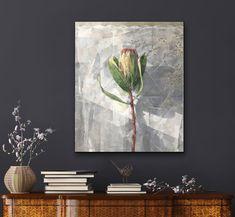 Jeannie Kinsler: Portrait Of A Protea II: fine art | StateoftheART Canvas Size, Original Artwork, Fine Art, Portrait, Gallery, Artist, Books, Painting, Pintura