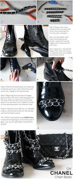DIY Chanel Chain Boots - Tutorial Step by Step