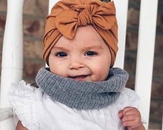 Camel baby turban hat, baby turban, newborn hat, baby hat, infant hat, hospital hat, baby bow hat, brown baby girl hat