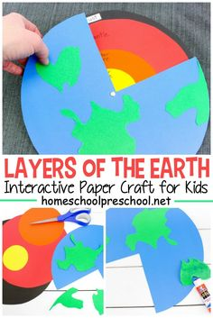 Explore the inside of the earth with this easy layers of the Earth preschool craft! It's perfect for Earth Day and your Earth science activities. # science for preschoolers preschool activities preschool crafts kindergarten Earth Science Projects, Earth Science Activities, Earth Science Lessons, Middle School Science, Science Experiments Kids, Science Classroom, Science For Kids, Preschool Projects, Summer Science
