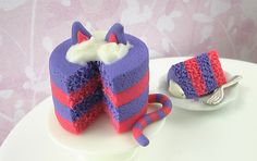 this is a fake cake in picture (made of clay) but I think it would be good to make for real.
