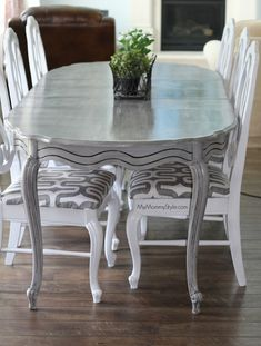 Grey Dinning Table, Dining Room Table, Table And Chairs, Dining Area, Chicago Furniture, Home Office Furniture, Kitchen Furniture, Refurbished Furniture, Cheap Furniture