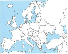 Find out the States of Europe on the Map quiz ideas, quiz night ideas, funny quizzes online European Map, European Road Trip, European Countries, Europe Map Printable, Map Quiz, Quizzes Funny, Country Names, Eastern Europe, Illustration