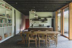 Eddy Francois | Hannelore Veelaert Brick Flooring, Story House, Wabi Sabi, Bungalow, Interior Inspiration, Interior Architecture, Family Room, Villa, House Design