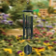 """Bells Of Vienna 36"""" Black Wind Chime Wind Chime - Scale Of E  Our Black finish is a durable, textured matte black. One of Bells Of Vienna windchimes exceptionally popular colors. Classic and timeless, it transcends the fads and is always in style. #MadeintheUSA#Crafts"""