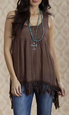 Brown Rochelle Tunic