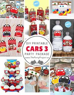 Ka-Chow! Join Lightning McQueen, Mater and all the Cars 3 crew to host a party like a Piston Cup race winner!--- Cars party printables set /// Kit imprimible tematica cars!