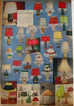 1954 Spiegel Catalog. Look at all of these amazing mid century lamps!!!!!