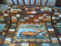 SALE Fish Quilt  King sized by QuiltsByTaylor on Etsy, $450.00  https://www.facebook.com/quiltsbyTaylor