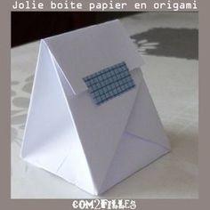 Un tuto pour créer de petites boites origami en papier !