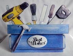 Tool box greeting card.