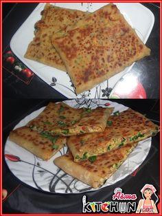 [ Arabic – Yemeni ] Asma's Kitchen: Mutabbaq recipe – Welcome to Ramadan 2019 Iftar, Ramadan Desserts, Healthy Ramadan Recipes, Healthy Snacks, Ramadan Food, Healthy Recipes, Tofu Recipes, Snack Recipes, Dessert Recipes