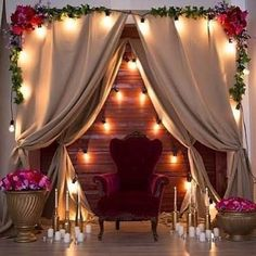 Image may contain: people sitting, living room, table and indoor Wedding Stage, Diy Wedding, Rustic Wedding, Backdrop Decorations, Wedding Decorations, Party Kulissen, Debut Ideas, Photo Booth Backdrop, Debut Backdrop