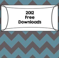 2012 Free Downloads from Teachers Pay Teachers weekly newsletter
