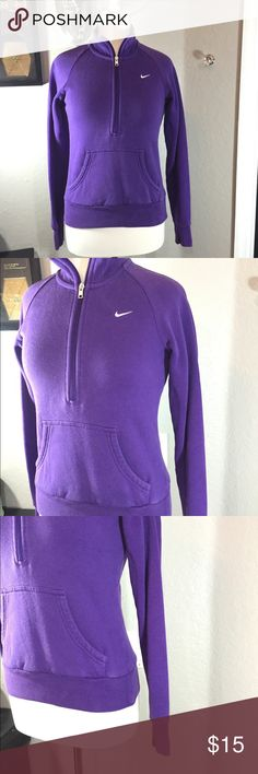Nike Purple Pullover Sweatshirt Size S  Good pre-loved condition. 76% cotton and 24% polyester. Nike Tops Sweatshirts & Hoodies