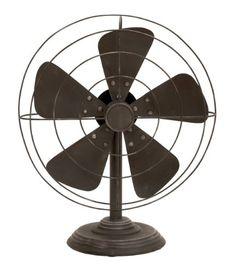 Deco 79 Decorative Vintage-Style Fan(Decor only) Deco 79…