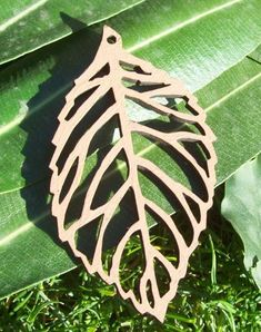 Laser Cut Birch Wood Filigree Leaf by PhoenixLaser on Etsy