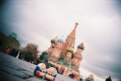 Love travelling, love Russia. Smile~~* #Lomography #Matryoshka #Moscow