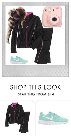 """""""Eh Stay Inside Instead 😦"""" by ashlyn024 ❤ liked on Polyvore featuring Danskin, NIKE, Fujifilm and Polaroid"""