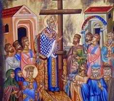 Του Σταυρού: Πως να φτιάξετε προζύμι από τον βασιλικό της Υψώσεως του Τιμίου Σταυρού - ΕΚΚΛΗΣΙΑ ONLINE Painting, Painting Art, Paintings, Painted Canvas, Drawings