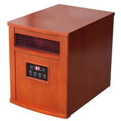 Stay warm with the Comfort Glow Deluxe Infrared Electric Heater , a powerful indoor heater with a simple, handsome look. Heat Warmers, Shop Heater, Chestnut Oak, Portable Space Heater, Infrared Heater, Heating And Cooling, Home Bedroom, Kitchen Dining, Remote