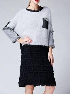 Knitted Angora-blend Midi Dress